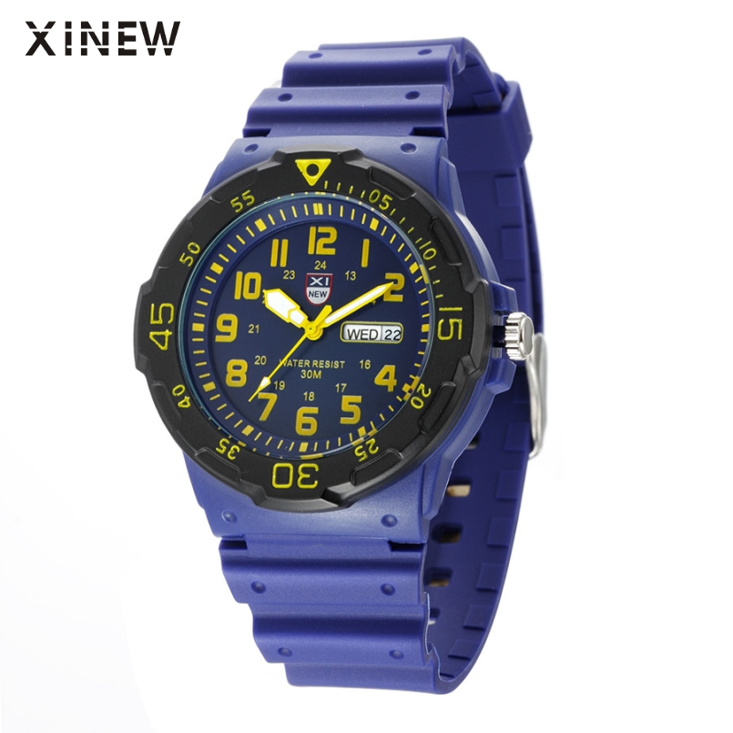 Excellent Quality XINEW Outdoor Silicone Men Women Army Date Sport Resin Wrist Watch Waterproof Analog Quartz Watches Mar 10 adjustable wrist and forearm splint external fixed support wrist brace fixing orthosisfit for men and women