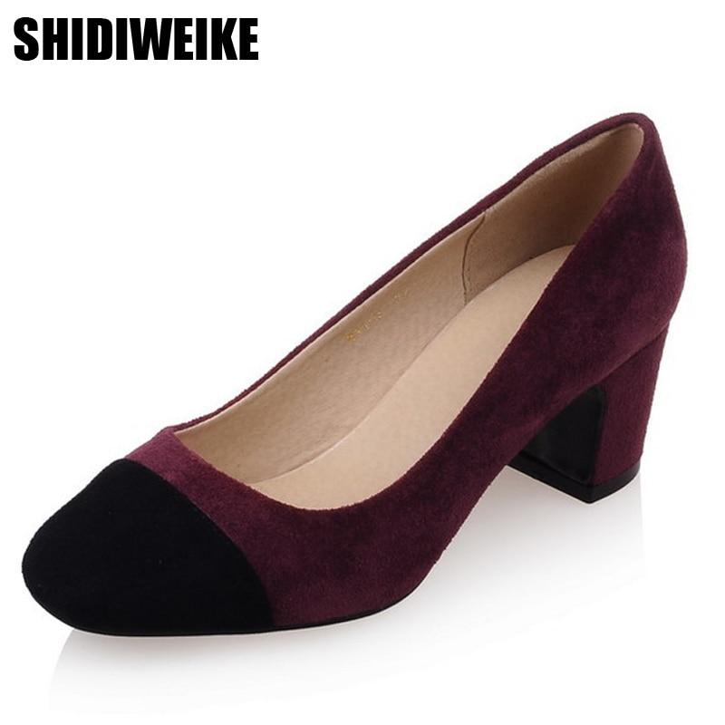 shidiweike 2017 big size shoes square shoe