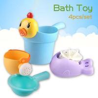 4pcs Set Baby Bath Toys Non Toxic Sprinkler System Children Kids Bathing Toys Beach Fountain Bath