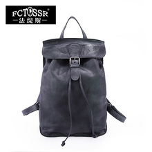 Autumn 2017 Original Genuine Leather Women Backpack Vintage Leisure Top Handle Women Bags Cow Leather Backpack