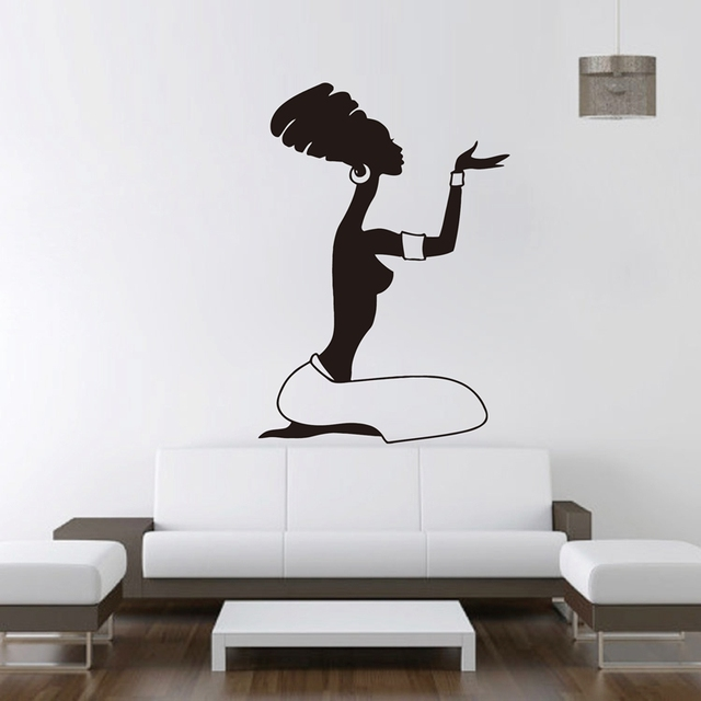 african women wall decal vinyl stickers home interior design africa