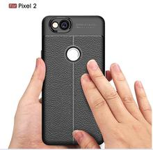 For Google Pixel 2 and  XL Litchi-print Simple Fall-proof Sheath Full-Pack Protective