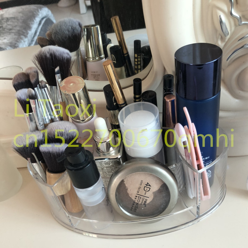 Tabletop Transparent Makeup Organizer Made of Acrylic for Storage of Lipstick Makeup Brush Nail Polish and Cosmetics of Women 2