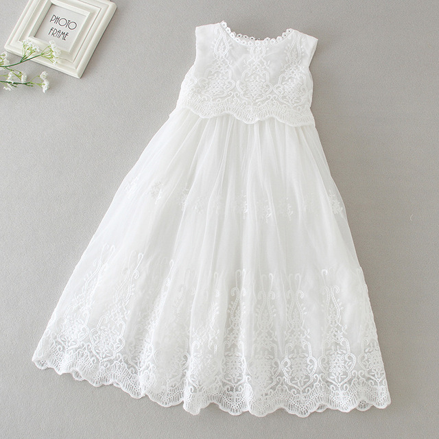 029d8f15f1b6 2019 Newborn Baby Girls Baptism White Princess Dress Kids White ...