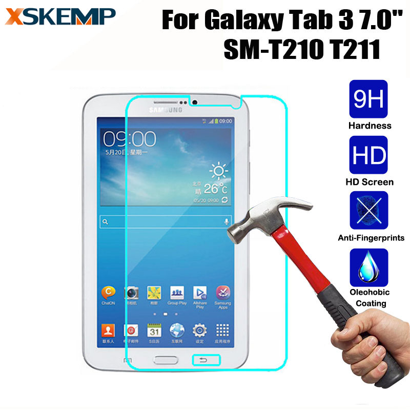 Tempered <font><b>Glass</b></font> HD Glossy Screen Protector For <font><b>Samsung</b></font> Galaxy Tab <font><b>3</b></font> 7.0 T210 T211 7.0 inch Explosion-Proof Protective Film Guard image
