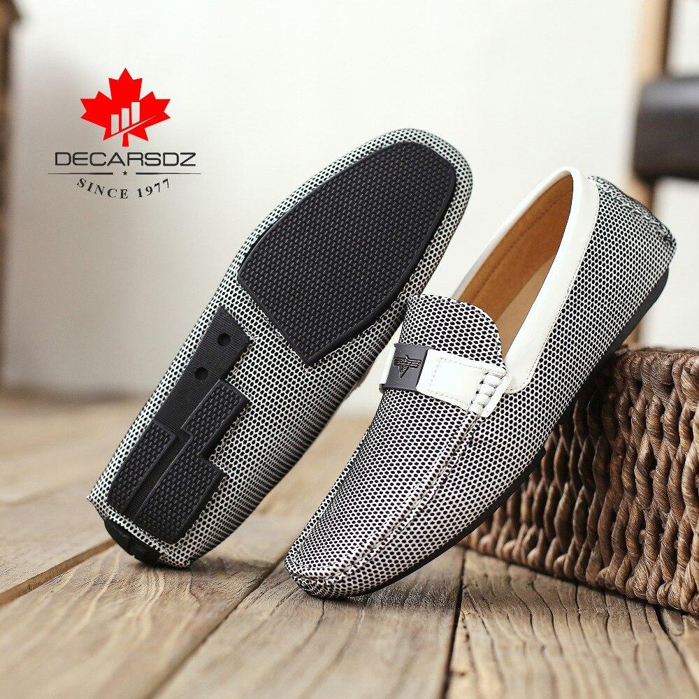 2020 New Men Casual Shoes Fashion Men Shoes Male luxury Leahter Drive Moccasins Shoes Man Brand Comfy Men's Flats Size 40-45