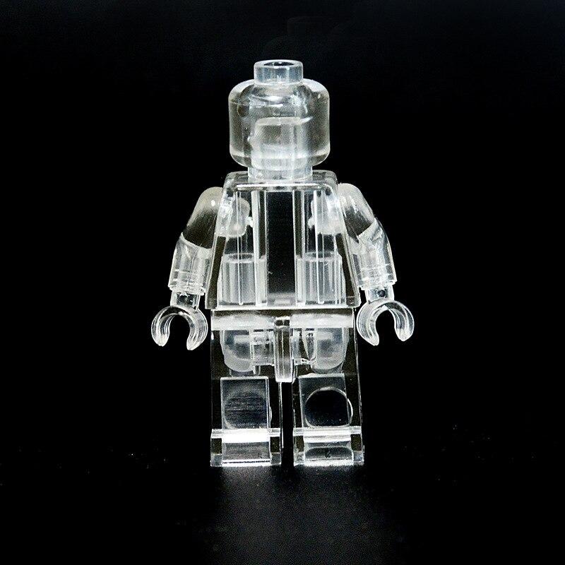 Dubbi 100 قطعة/الوحدة diy اللبنات الشفافية minifigures اكسسوارات كتل متوافق مع Legoe ل هدية-في كتل متصلة من الألعاب والهوايات على  مجموعة 1
