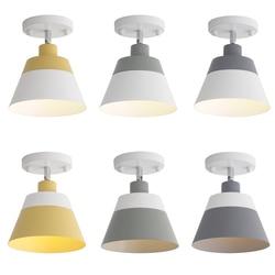 Darmo regulowany macaron tanie LED lampy sufitowe nowoczesne proste kolorowe rodziny korytarz dekoracji LED do montażu na powierzchni lampy|Oświetlenie sufitowe|Lampy i oświetlenie -