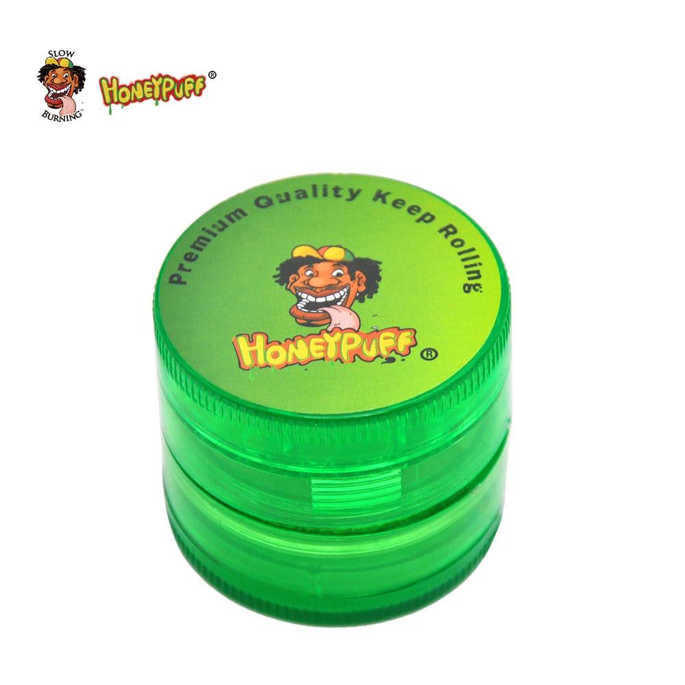 HONEYPUFF Premium Magnetic Plastic Tobacco Herb Grinder 50 MM 4 Layer Spice Grinder Sharp Diamond Teeth Herbal Crusher Miller plastic