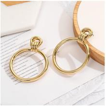 CXW Free shipping Alloy hoop earrings  for women European and American fashion with exaggerated style A16