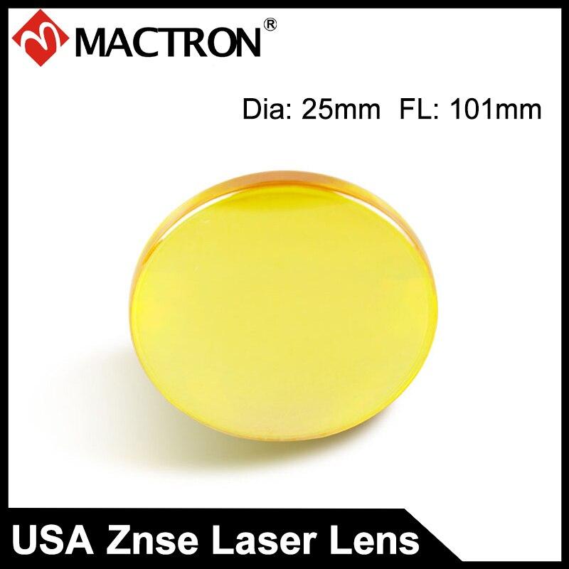 Co2 Laser Lens Diameter 25mm USA CVD ZnSe laser focus length 101mm Focal Length