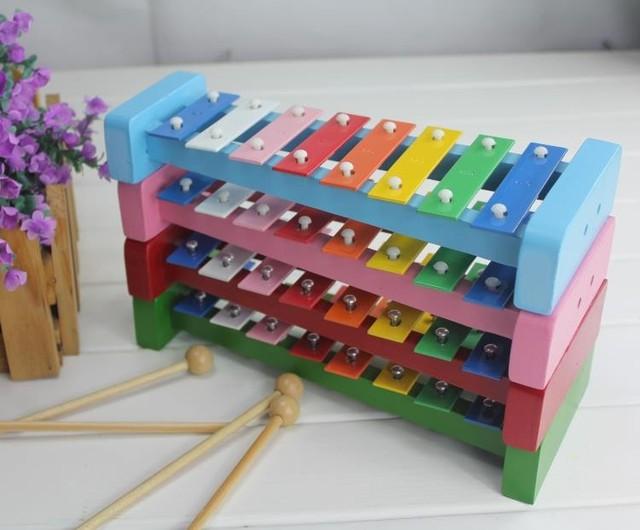 8 escalas xilofone bebê de madeira música instrumental brinquedos/Crianças brinquedos educativos Orff Criança tamanho grande celesta, frete grátis