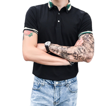 2019 summer new short-sleeved embroidery POLO shirt male Korean version of the leisure port wind lapel