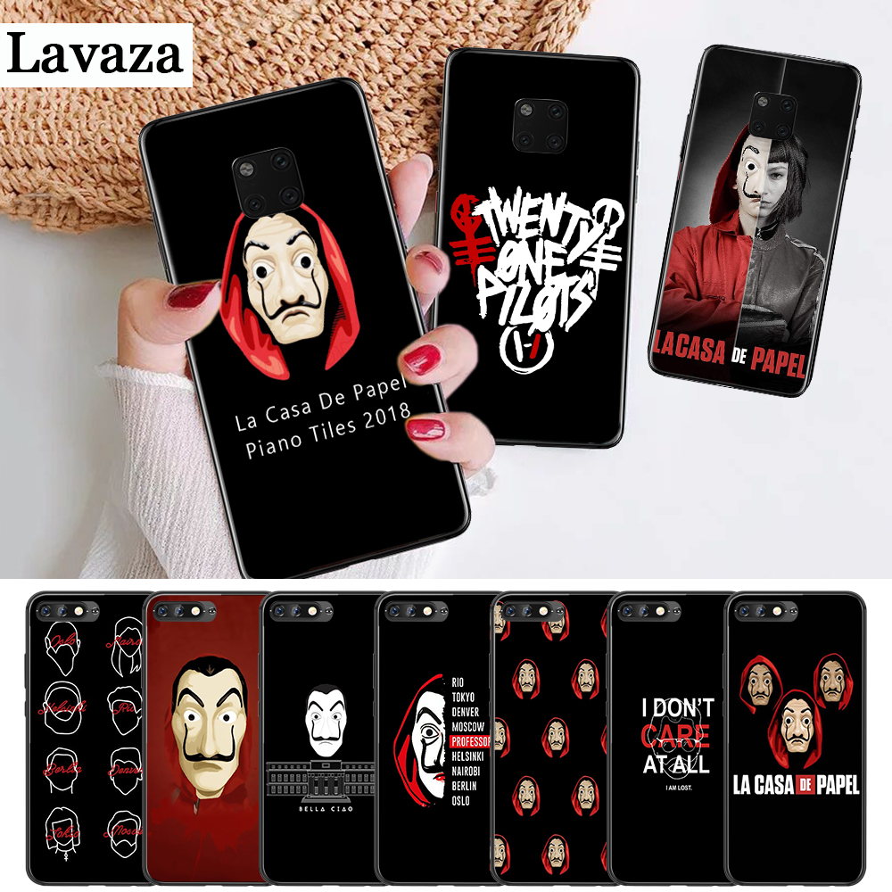 Lavaza La Casa De Papel Money Heist Silicone Case for Huawei Mate 10 Pro 20 30 Lite Nova 2i 3 3i 4 5i Y5 Y6 Y7 Prime Y9