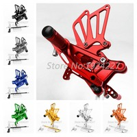 8 Colors Motorcycle Foot Pegs For Honda F4 1999 2000 CNC Aluminum Rearsets Adjustable Rear Set Motorbike Footrest Support Pedal