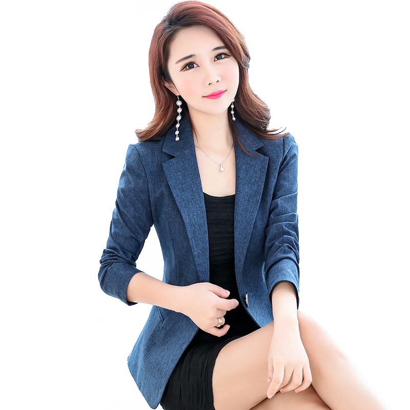 Spring And Autumn New Fashion Slim Korean Version Of The Small Suit Jacket Long Sleeves Fashion Casual Suit Female Blazers TB190