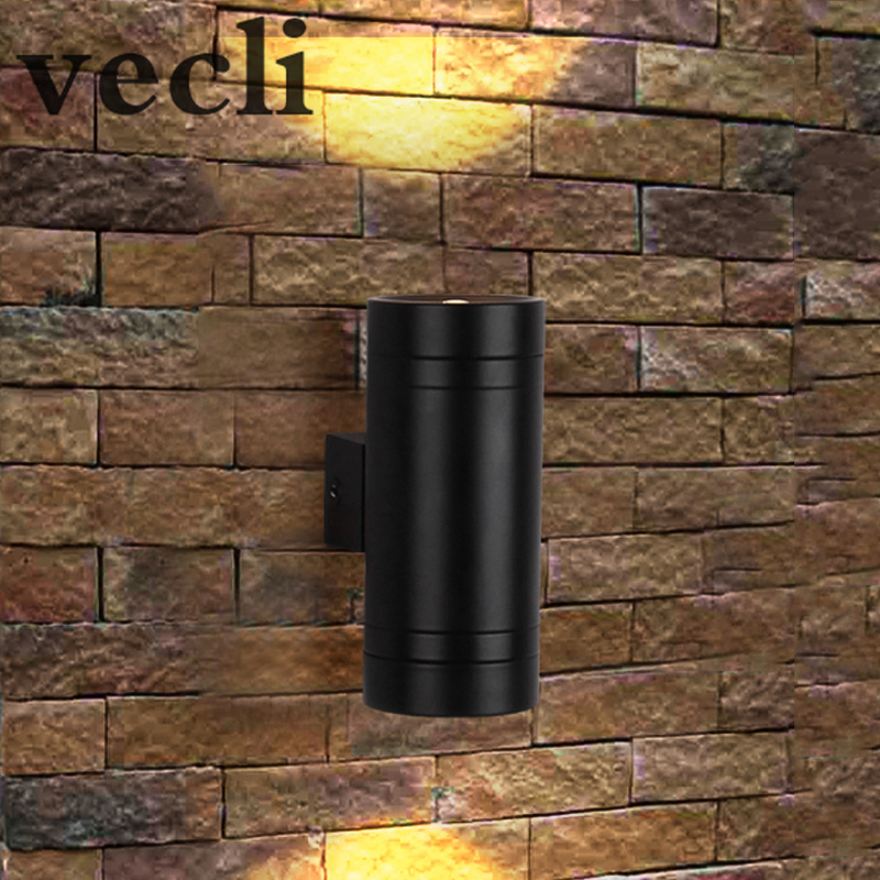 Up Down LED Wall Lamp Exterior Outside Porch Light Waterproof IP54 Garden  Wall Sconces Gazebo WCS