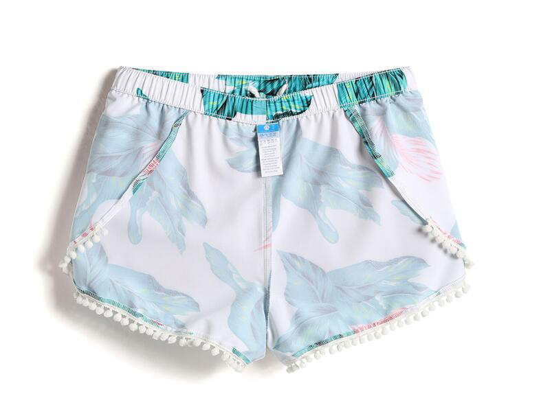 Marca de água esporte shorts sexy mulheres