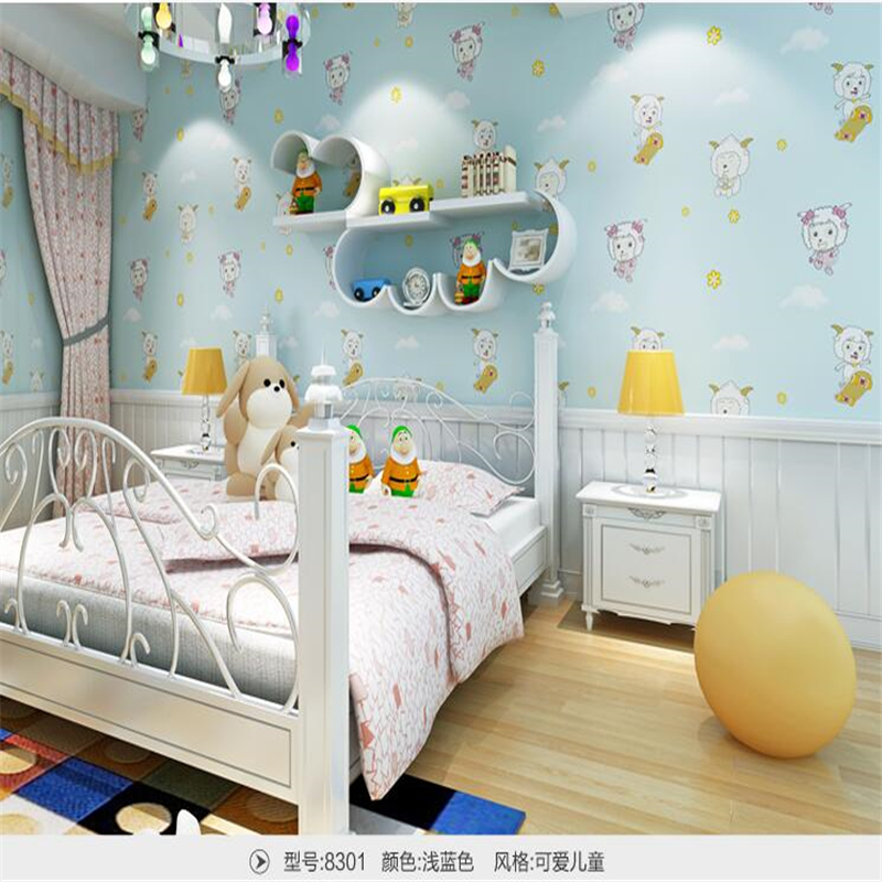 beibehang wall papers home decor Wallpapers cute child radiant non-woven pearl wallpapers boy girl bedroom background wallpaper