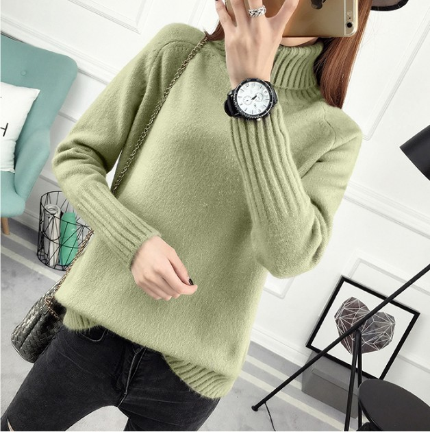 FANMUER Winter Autumn Turtleneck Pullovers Sweaters Primer shirt long sleeve Korean Slim fit tight turtleneck women sweater in Pullovers from Women 39 s Clothing