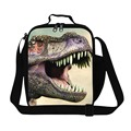 New Movie Jurassic World Cartoon Kids Lunch Bags Mens Thermal Lunch Box 3D Animal Dinosaur Print Lancheira Picnic Food Bag