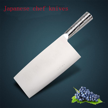 "7 ""stainless steel chef knife kitchen knives Japanese knife multipurpose knife frozen meat cleaver Kitchen Cooking Tools"