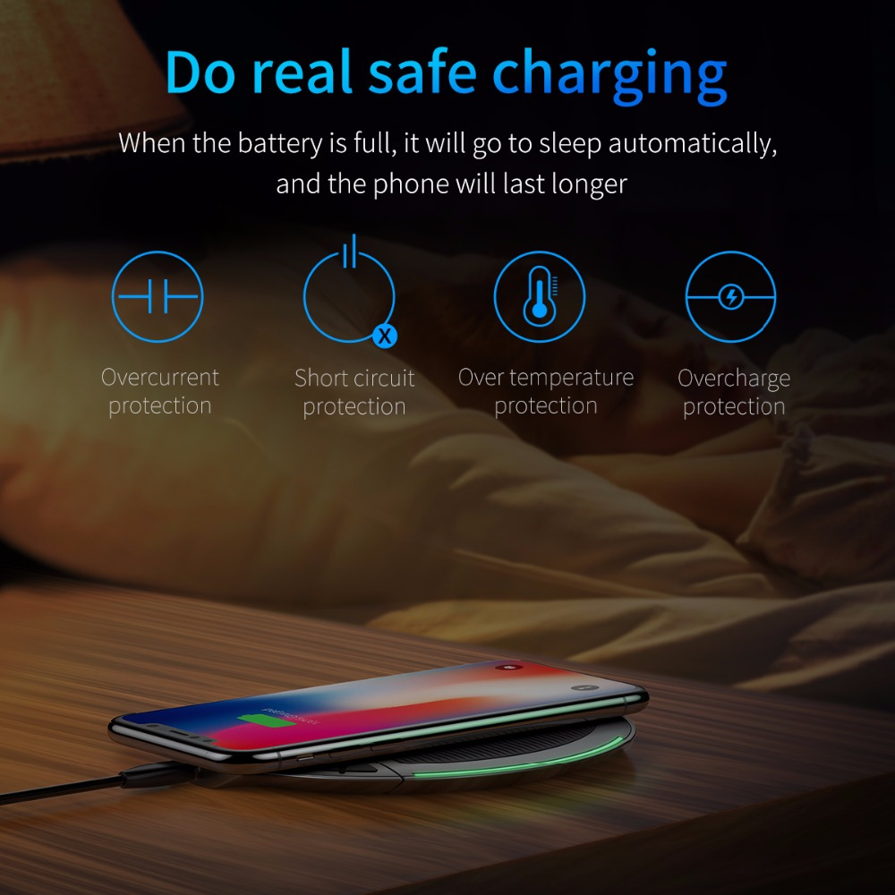 Wireless Charger 10W - Multifunctional 3 in 1 Wireless Charger - Apple Quick Charging 3