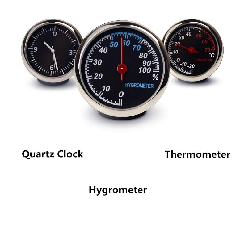 Exquisite car mechanics luminous quartz clock digital pointer for auto decoration supplies car mechanics thermometer hygrometer