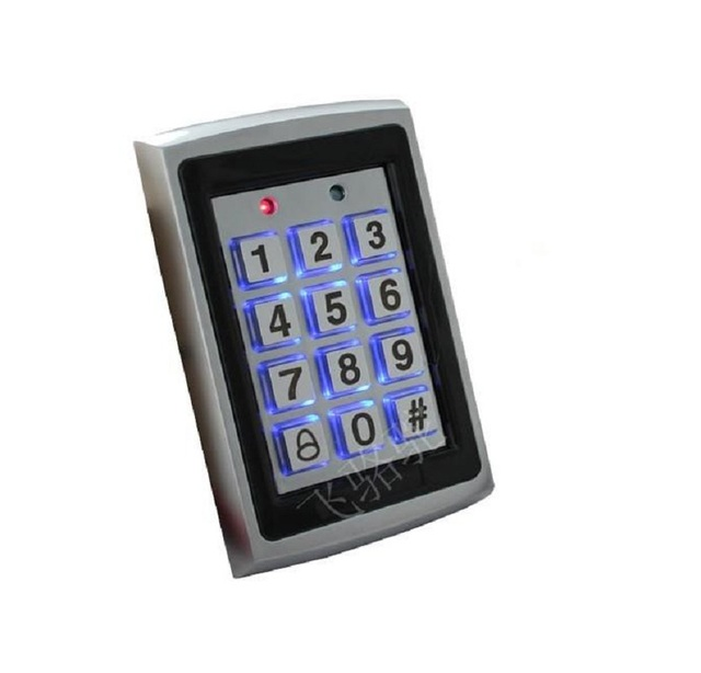RFID Reader pincode with 125 Khz Anti-tamper Waterproof Metal appearance password backlit Keypad for access control system