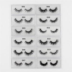 Image 4 - LEHUAMAO faux cils en vison 3D faits à la main, Collection de poils, 34 styles, emballage avec paillettes, 100 paires