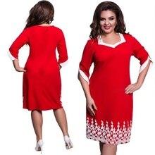 Plus Size Lace Patchwork Fashion Dress