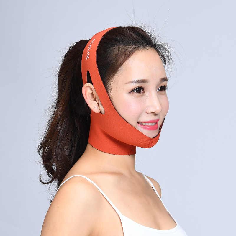 薄型フェイスリフトマッサージ顔痩身マスクベルト美顔器ツール抗しわ二重あご包帯フェイスケアセルライト削減