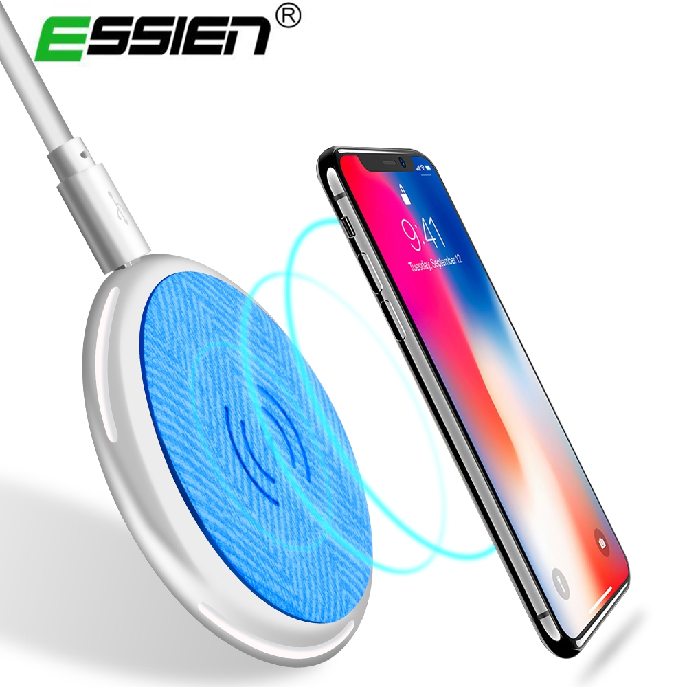 Essien Leather Qi Wireless Charger Adapter