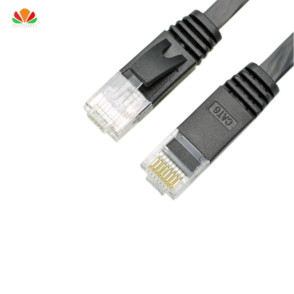 10ft 3m flat UTP CAT6 Network Cable Computer Cable Gigabit Ethernet Patch Cord RJ45 Adapter copper twisted pairs GigE LAN Cable