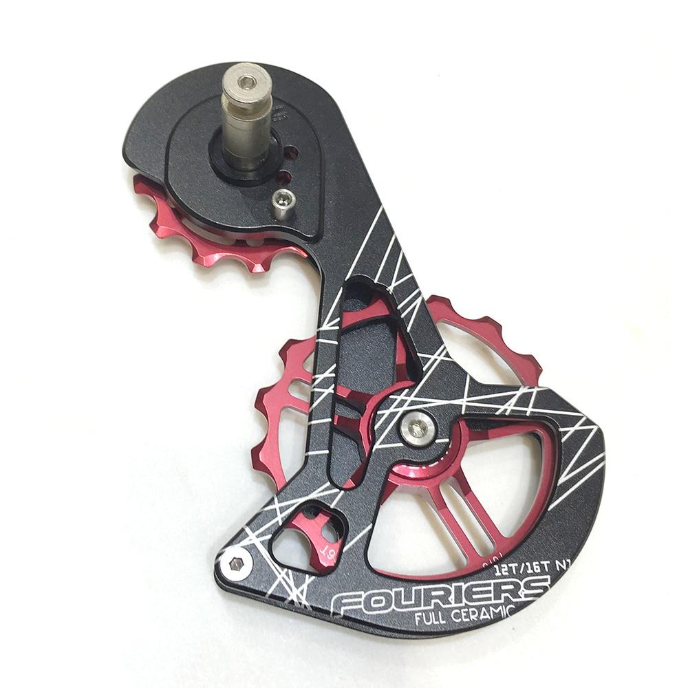 Fouriers vélo de route arrière dérailleur Cage en céramique poulie Jockey roue transmission surdimensionnée 12 T 16 T pour RD9100-SS 9100 pièces de vélo