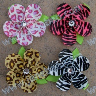 free shipping 50pcs pretty petal flower clip new loopy flower clips