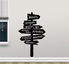 Harry Potter Wall Decal Hogwarts Road Sign Vinyl Sticker Home Movie Decor Free Shipping