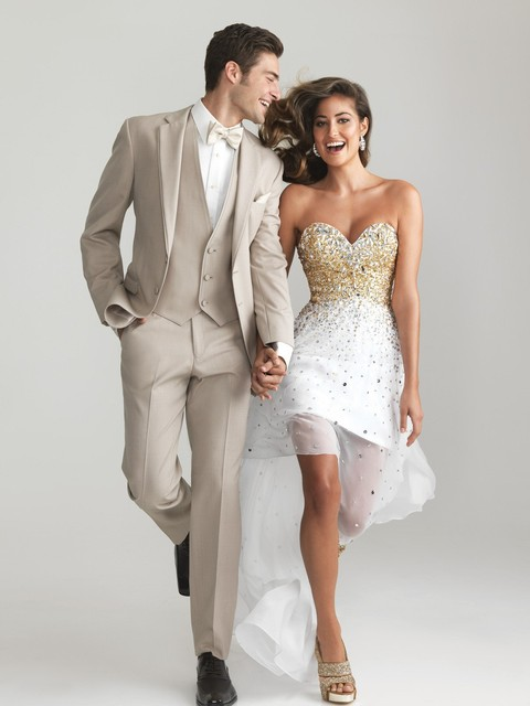 vestido de novia con traje del novio – vestidos de boda