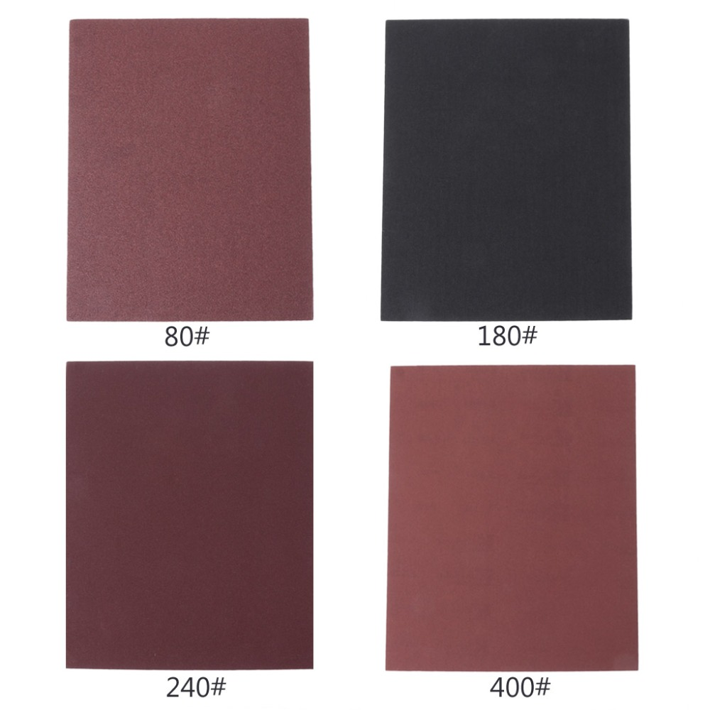 Independent 80/180/240/400 Grit Aluminium Oxide Wet And Dry Abrasive Sanding Paper 28x23cm