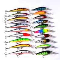 Minnow 20pcs Fly Fishing Lure Fishing Wobblers Set Iscas Artificiais Para Pesca Hard Bait Lure Wobbler Carp Fishing Tackle L54