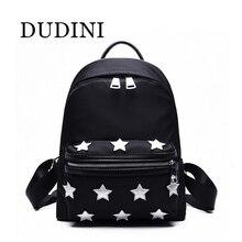 DUDIN New Arrival Unisex Backpacks Stars Pattern Side Buckles Black/Gray Hanging on Stroller Protable Printing Backpacks