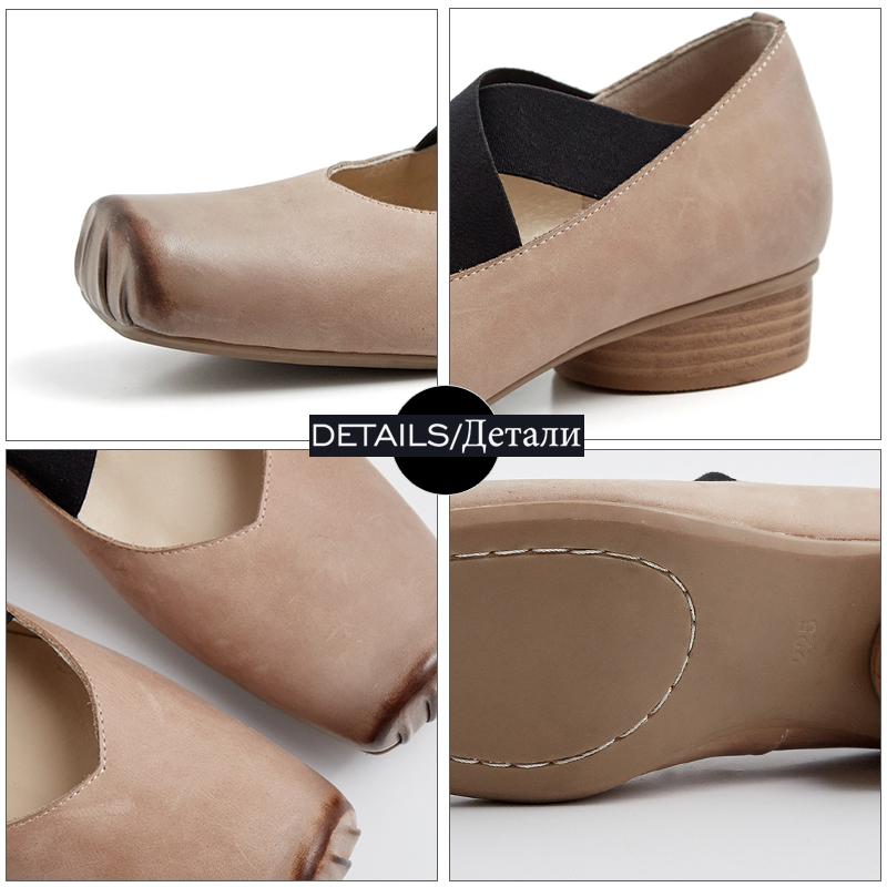 Pumps Thick Toe nero Shoes Donna Low Women New Sports Wetkiss Beige Bound Cow Square Primavera Cross Heels Leather 2019 xwq0WYtX