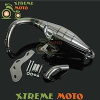 Completo Sistema De Escape Silenciador Pipe Scooter Ciclomotor Racing Para Honda DIO50 DIO AF18 AF24 AF27 AF28 AF30