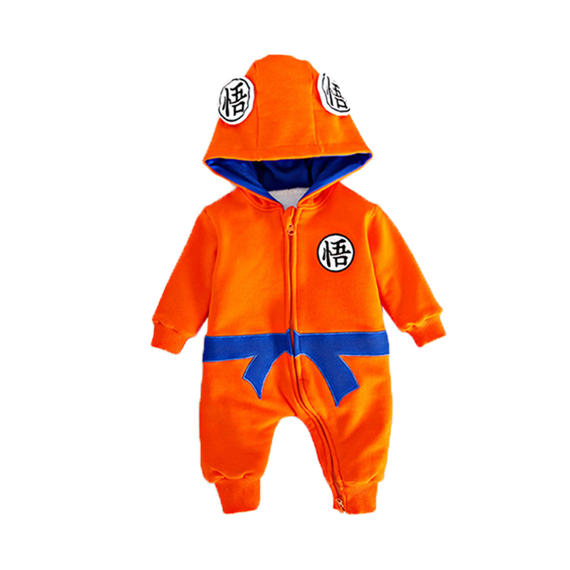 Thickened Flannel Baby Boys Jumpsuits Rompers Spring Autumn Cartoon Dragon Ball Batman Hooded Onesie Overalls for 0-2 Y Toddlers
