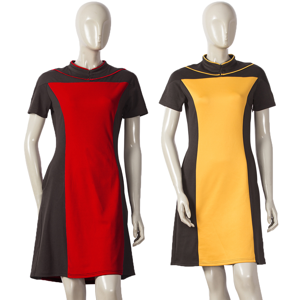 Star Trek The Next Generation Women's Skant Dress Uniform Costume Star Trek Dress Cosplay Halloween Party