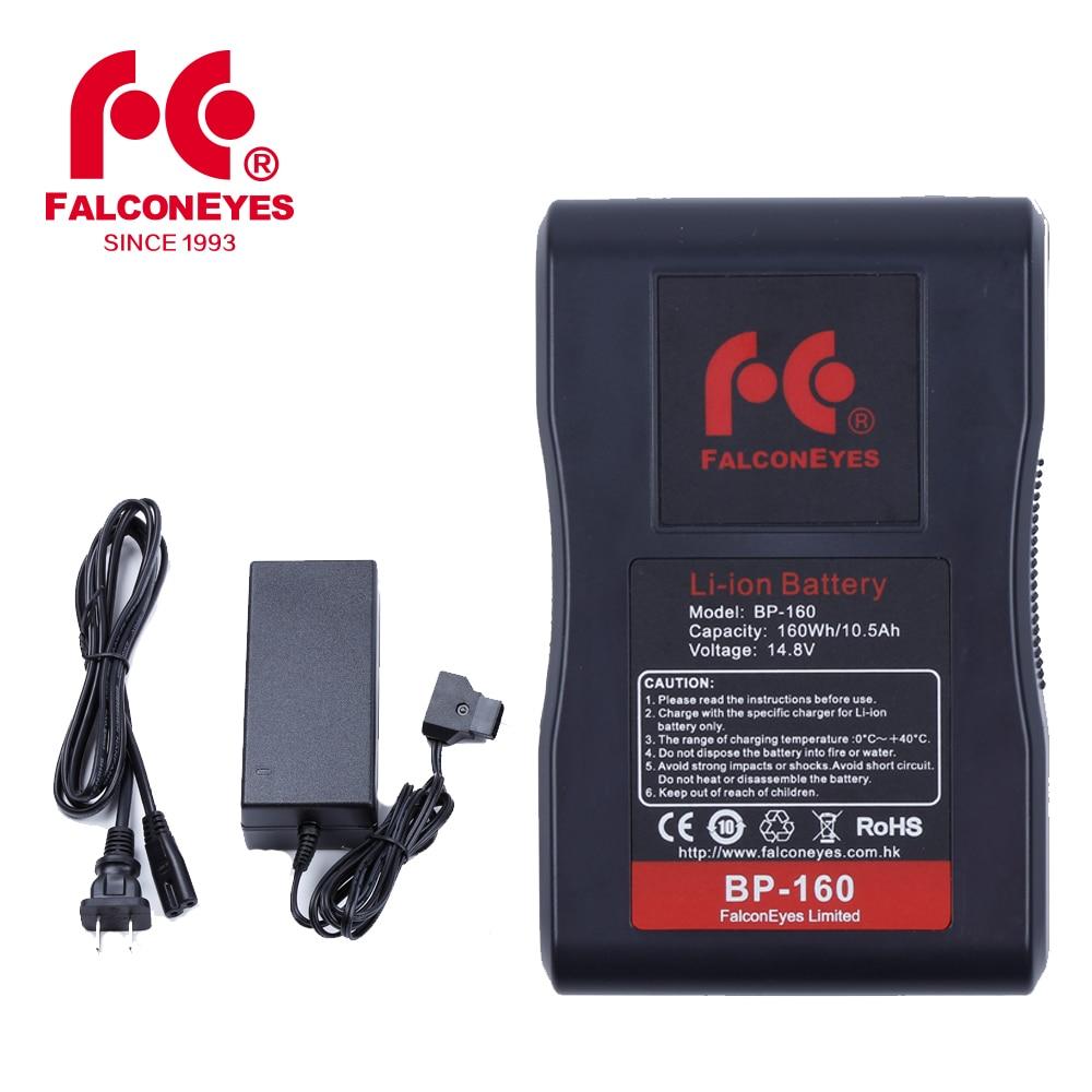 Ojos Falcon BP 160L 10500 mAh 14,8 V con cargador de batería adaptador para RX 12TD RX 18TD RX 24TDX-in Kit de iluminación fotográfica from Productos electrónicos    1