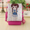 PU leather cartoon characters women coin purse wallet ladies mini messenger money pouch bag bolso mujer bolsa feminina for girls