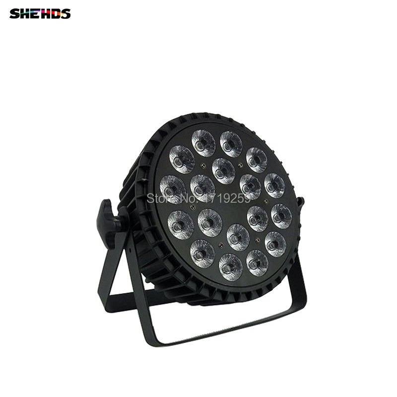 Aluminum Alloy LED Par 18x12W RGBW 4in1 LED Par Can Led Par Light DMX Stage Lights or Party KTV Disco DJ Lamp DMX512 4/8CHs led stage light effect 12x3w flat par rgbw dmx512 dj disco lamp ktv bar party backlight laser beam projector dmx spotlight