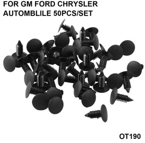 100x Car Plastic Screw Rivet Fender Bumper Shield Retainer For GM Ford Chrysler