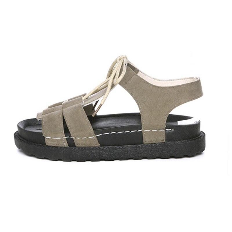 e94b89eea95 ... New Gladiator Women shoes Roman sandals shoes Women sandals peep-toe  flat Shoes woman. -38%. Click to enlarge